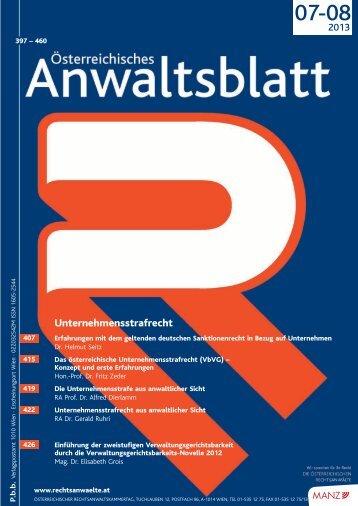 Unternehmensstrafrecht - Österreichischer Rechtsanwaltskammertag