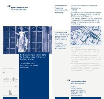 Rhein Sachverständigen-Forum 2013 für Rechtsanwälte, Richter ...
