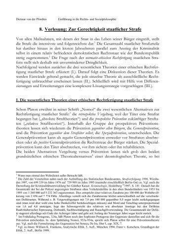 8. Vorlesung - Prof. Dietmar von der Pfordten