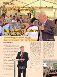 Ing. Albert Rainer Haselböck Ing. Albert Rainer Haselböck