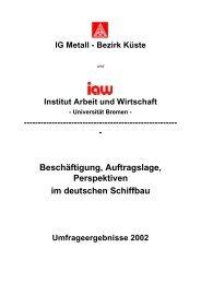 Beschäftigung, Auftragslage, Perspektiven im deutschen ... - TU Berlin