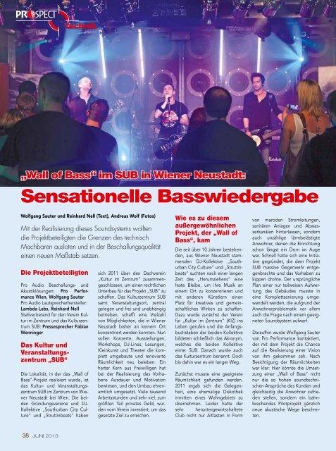 """Sensationelle Basswiedergabe – Die """"Wall of Bass"""" im SUB in Wr ..."""