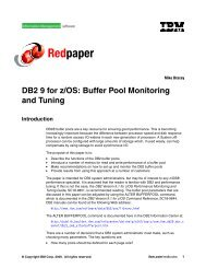 DB2 9 for z/OS: Buffer Pool Monitoring and Tuning - IBM Redbooks