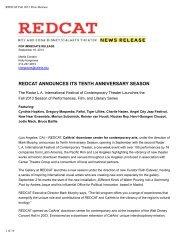 REDCAT Fall 2013 Press Release
