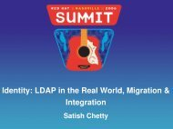 Identity: LDAP in the Real World, Migration & Integration - Red Hat