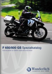 F 650/800 GS Spezialkatalog - REF Motorsport
