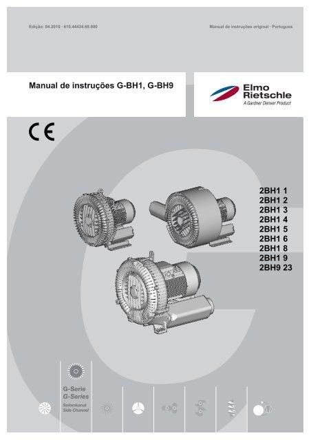 Manual de instruções G-BH1, G-BH9 - Elmo Rietschle