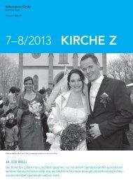 Kirche Z - Juli/August 2013 - Reformierte Kirche Zug