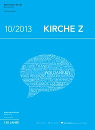 Kirche Z - Oktober 2013 - Reformierte Kirche Zug