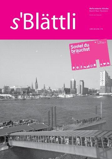 s'Blättli - Juni 2013 - Reformierte Kirche Zug