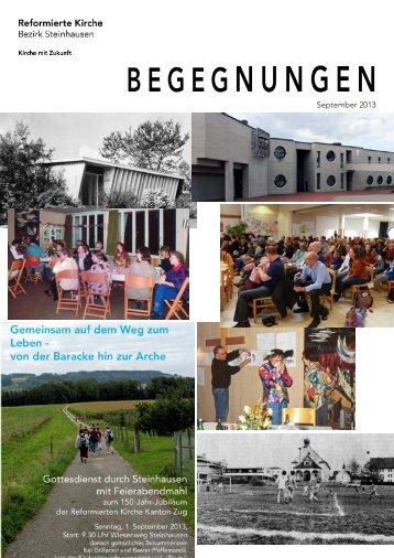 Begegnungen - September 2013 - Reformierte Kirche Zug