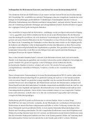 Stellungnahme des Reformierten Konventes zum ... - reformiert-info.de
