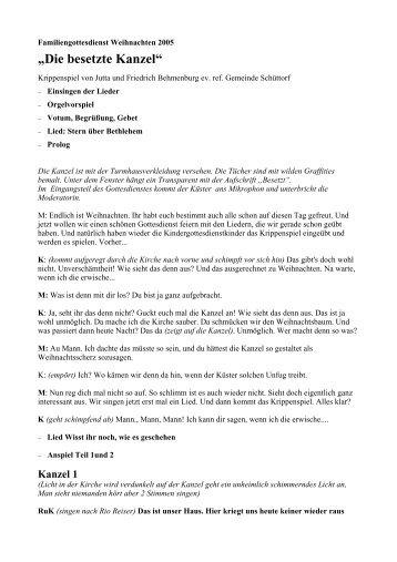 Die besetzte Kanzel als PDF-Datei zum Download - reformiert-info.de