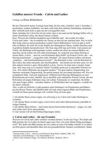 Gehilfen unserer Freude - Calvin und Luther''.pdf - reformiert-info.de