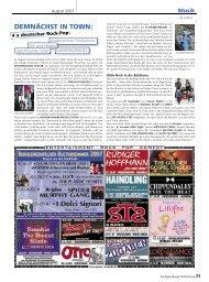 DEMNÄCHST IN TOWN: - Regensburger Stadtzeitung