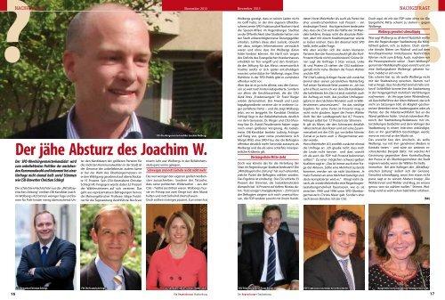 Nachgefragt: jäher Absturz des Joachim W., Einheitsfeier ´13, Hans ...