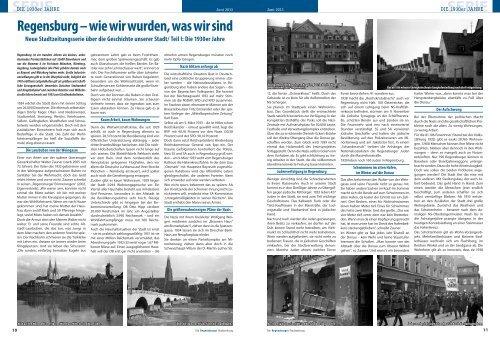 Serie Teil 1: Die 30er Jahre - Regensburger Stadtzeitung