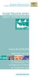 Europas Naturerbe sichern Bayerns Heimat bewahren