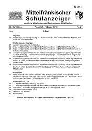 Schulanzeiger 02 2010 - Regierung von Mittelfranken - Bayern