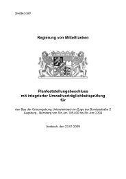 Planfeststellungsbeschluss vom 23.01.2009 - Regierung von ...