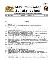 Schulanzeiger 08/09 2013 - Regierung von Mittelfranken - Bayern