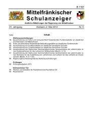 Mittelfränkischer Schulanzeiger - Regierung von Mittelfranken