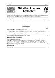 Mittelfränkisches Amtsblatt - Regierung von Mittelfranken - Bayern