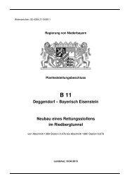 B 11 Rettungsstollen Regen - Die Regierung von Niederbayern