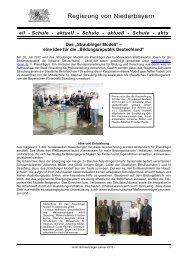Schule - aktuell - Die Regierung von Niederbayern