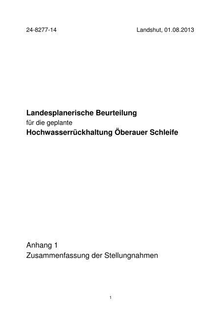 Anhang 1 - Die Regierung von Niederbayern