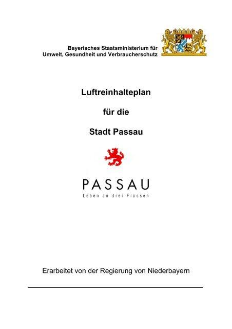Luftreinhalteplan für die Stadt Passau - Die Regierung von ...