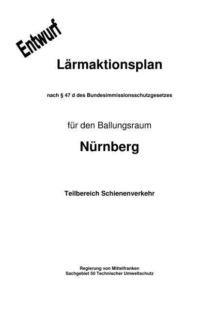 Lärmaktionsplan Nürnberg - Regierung von Mittelfranken