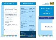 Multiplikatorenteam - Die Regierung von Niederbayern