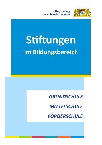 Lokale S ftungen - Die Regierung von Niederbayern