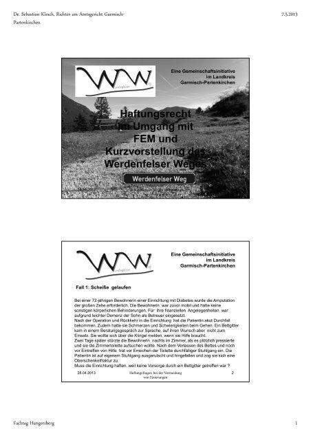 """""""Haftungsrecht im Umgang mit FEM und Kurzvorstellung des ..."""