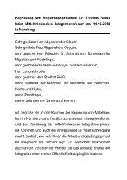 Begrüßung von Regierungspräsident Dr. Thomas Bauer beim ...
