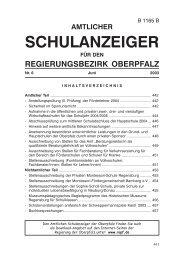 SchulanzeigerJuni2003.pmd - Regierung der Oberpfalz - Bayern