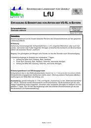 erfassung &bewertung von arten der vs-rlin bayern - Regierung von ...