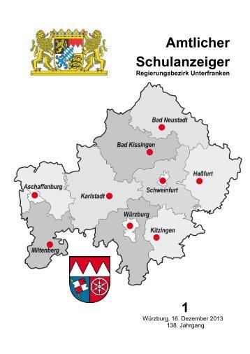 Schulanzeiger Januar 2014 - Regierung von Unterfranken - Bayern