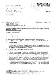 der Regierung von Schwaben - Bayern