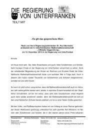 6. Unterfränkischen Mathematikmeisterschaft – Offizielle Siegerehrung