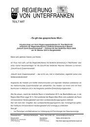 Zukunft durch Zusammenarbeit - Regierung von Unterfranken - Bayern
