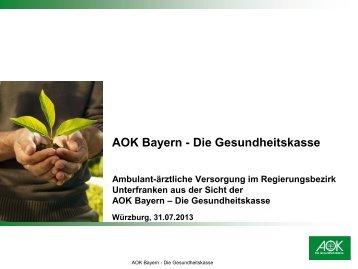 Ambulant-ärztliche Versorgung in Unterfranken aus der Sicht einer ...