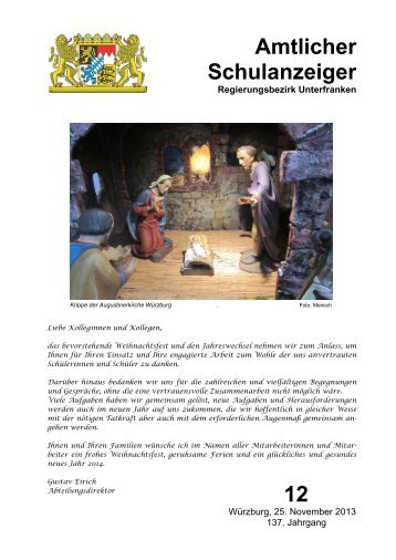 Schulanzeiger Dezember 2013 - Regierung von Unterfranken