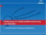 Farbkonzept zur Gefahrstoffkennzeichnung von Gebinden 2