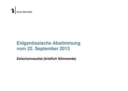 Eidgenössische Abstimmung vom 22. September ... - Regierungsrat