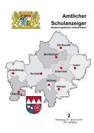 Schulanzeiger Februar 2014 - Regierung von Unterfranken - Bayern