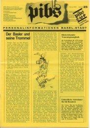 Der Basler und seine Trommel - Regierungsrat - Kanton Basel-Stadt
