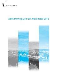 Abstimmungserläuterungen - Regierungsrat - Kanton Basel-Stadt