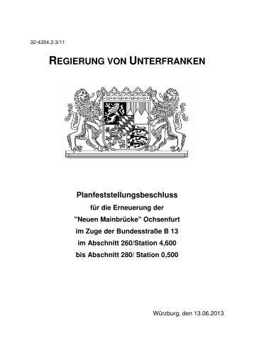 Planfeststellungsbeschluss vom 13.06.2013 - Regierung von ...